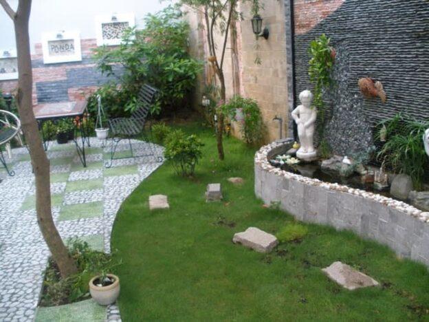 Thi công thiết kế tiểu cảnh sân vườn đẹp, hợp không gian nhà ở