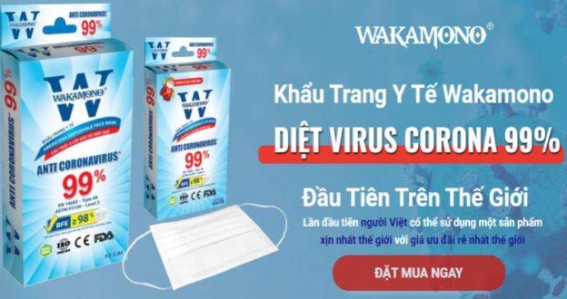 Khẩu Trang Y Tế Wakamono Anti Coronavirus 99%